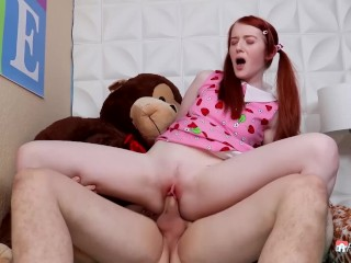 Tinie GINGER STEP-SIS In BRACES – She Got Penetrated