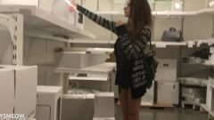 Drunk Girl With Braces Flashing Massive Tits And Fingering In IKEA