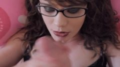 Penis Worship And Facial For Nerdy Girl With Glasses